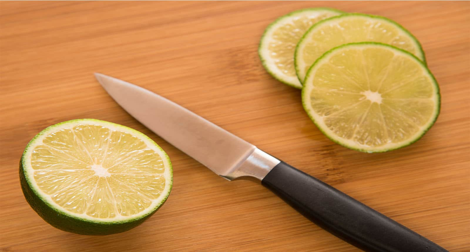 Lime Three Slices Paring Knife