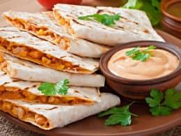 Mexican Quesadilla Sliced