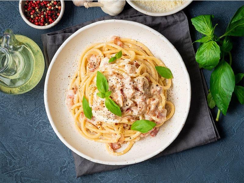 Pasta Spaghetti Pancetta Egg