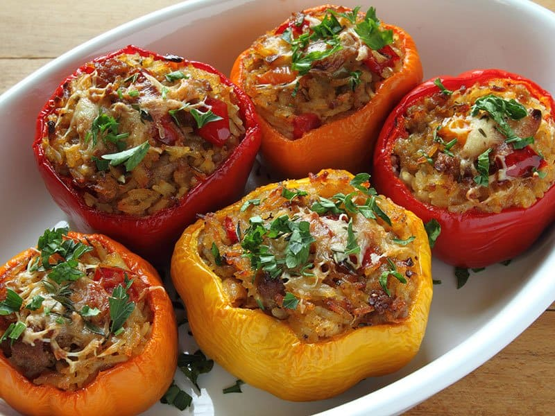 Peppers Ground Beef