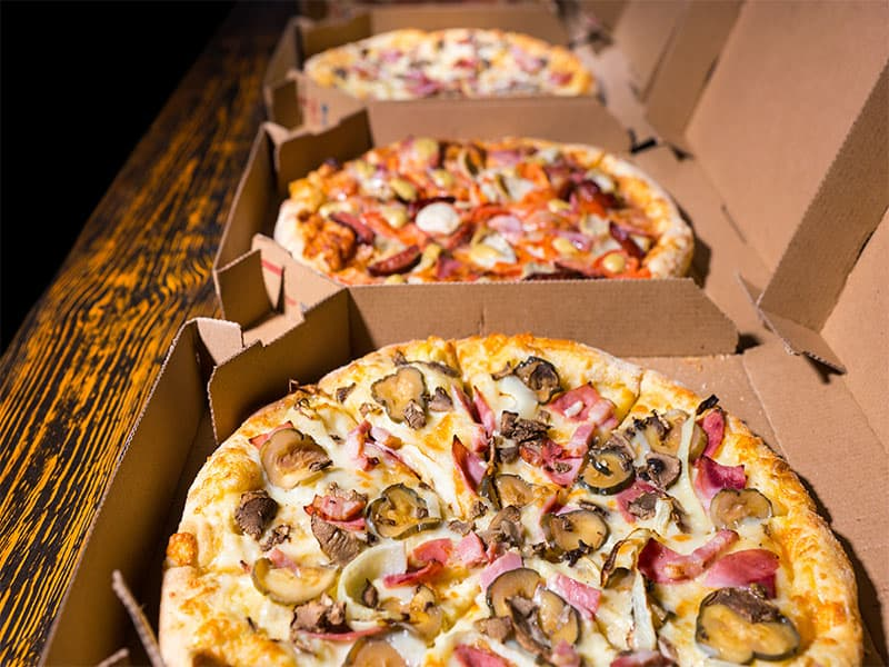 Pizzas Variety Toppings Cheese
