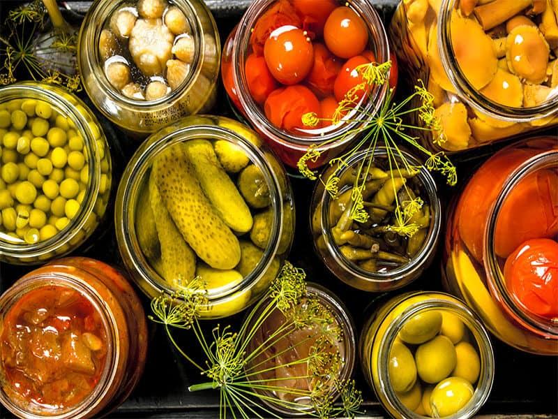 Preserves Vegetables Glass