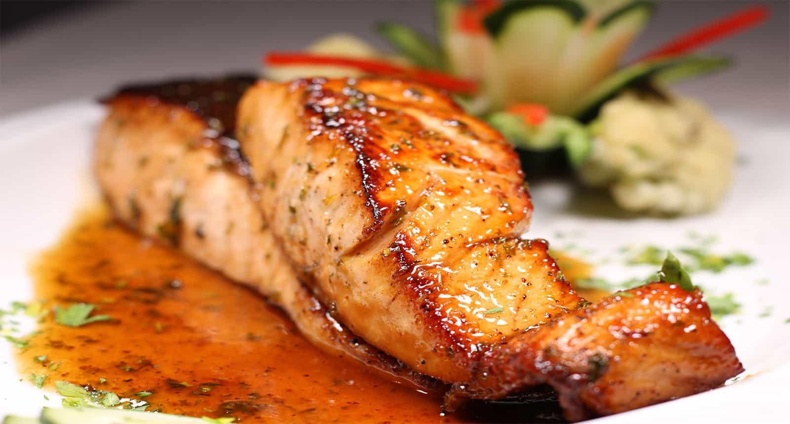 Salmon Fillet Honey Sauce