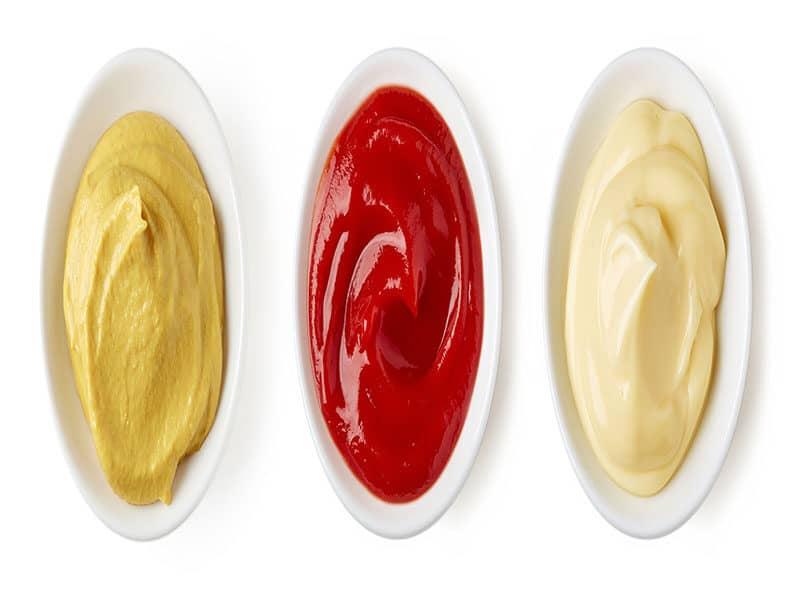 Set Sauces Ketchup Mayonnaise