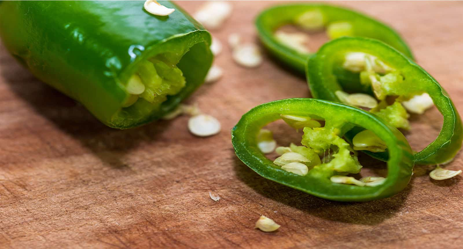 Sliced Green Hot Peppers