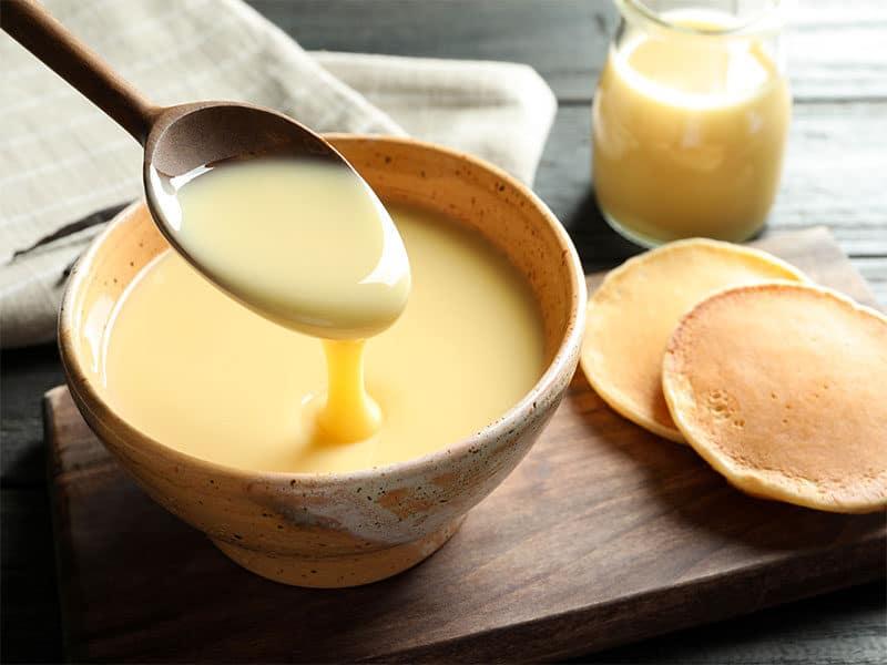 Spoon Pouring Condensed Milk