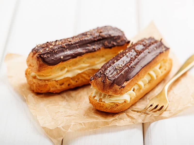 Traditional French Eclairs Chocolate