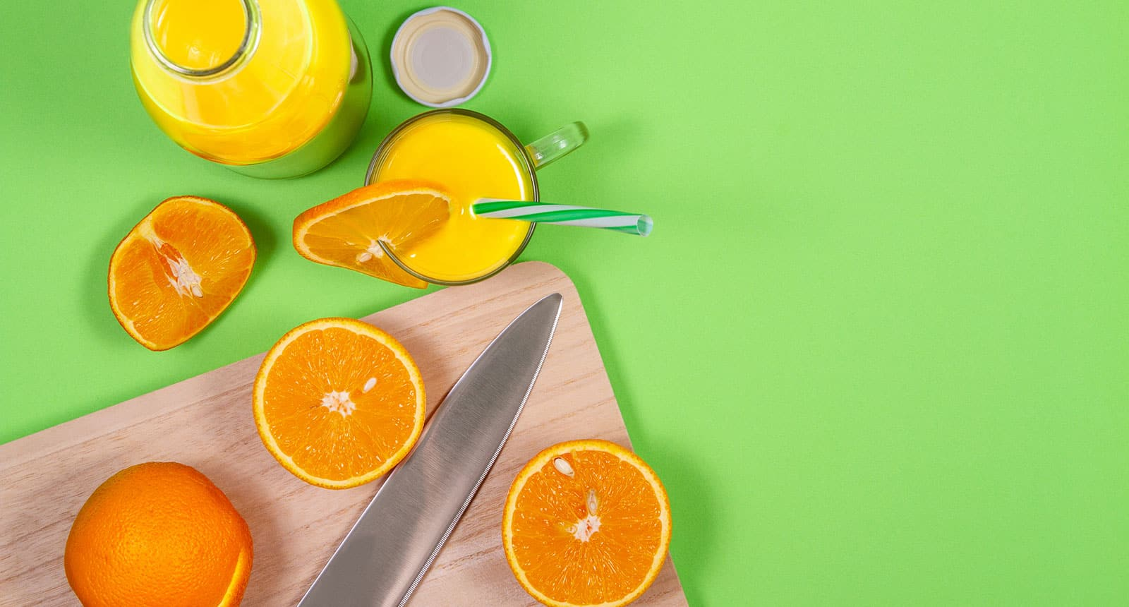 Utility Knife Cut Citrus