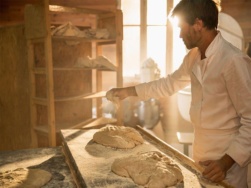 Bakery Baker Prepare Bread