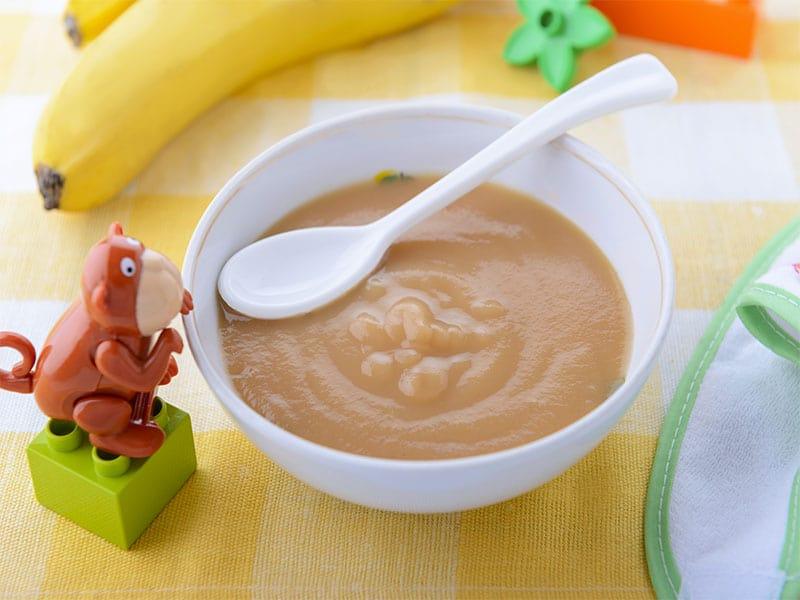 Banana Puree Childs Plate