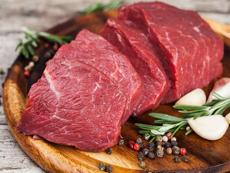 Beef Meat On Cutting