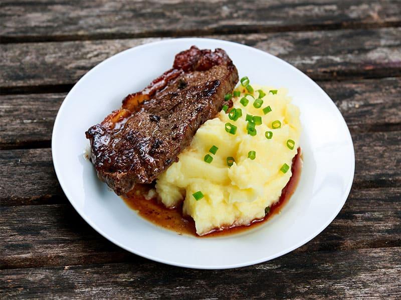 Beef Steak Mashed Potatoes