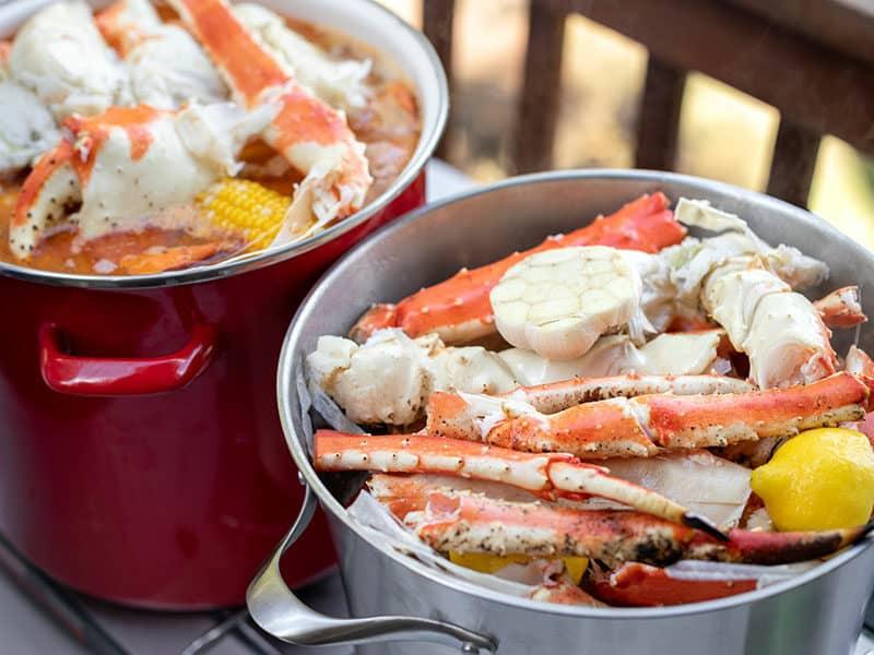 Boiled Crab Legs