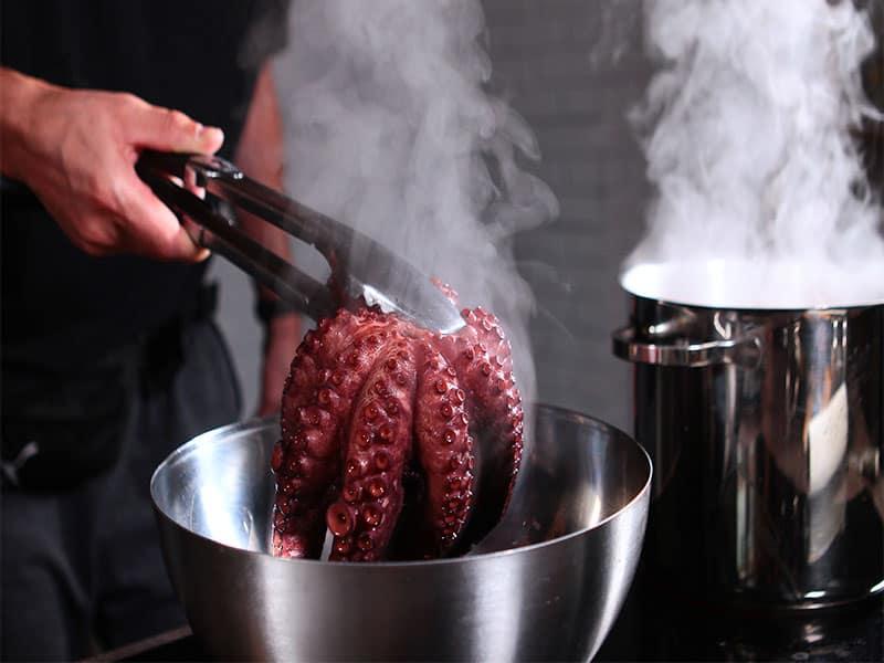 Boiled Octopus Taken Pan Whole