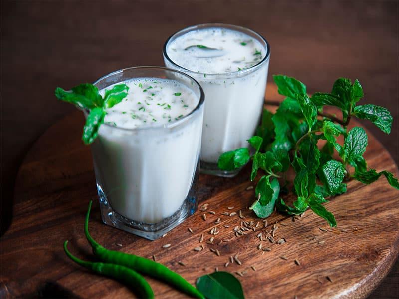 Buttermilk Drink Made Yogurt