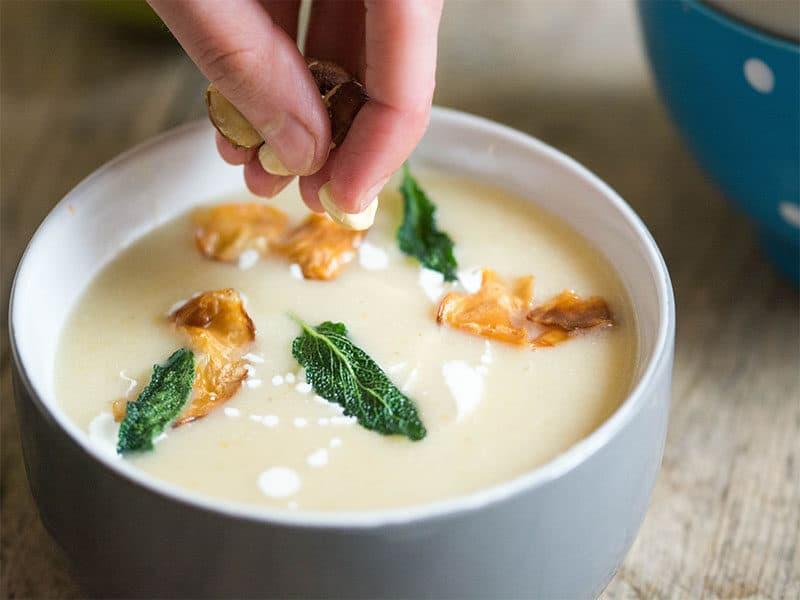 Celeriac Apple Soup