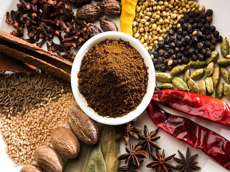Colourful Spices For Garam Masala