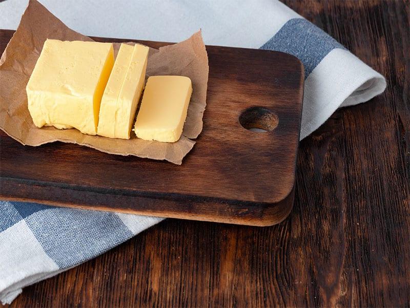 Cut Butter On Plate