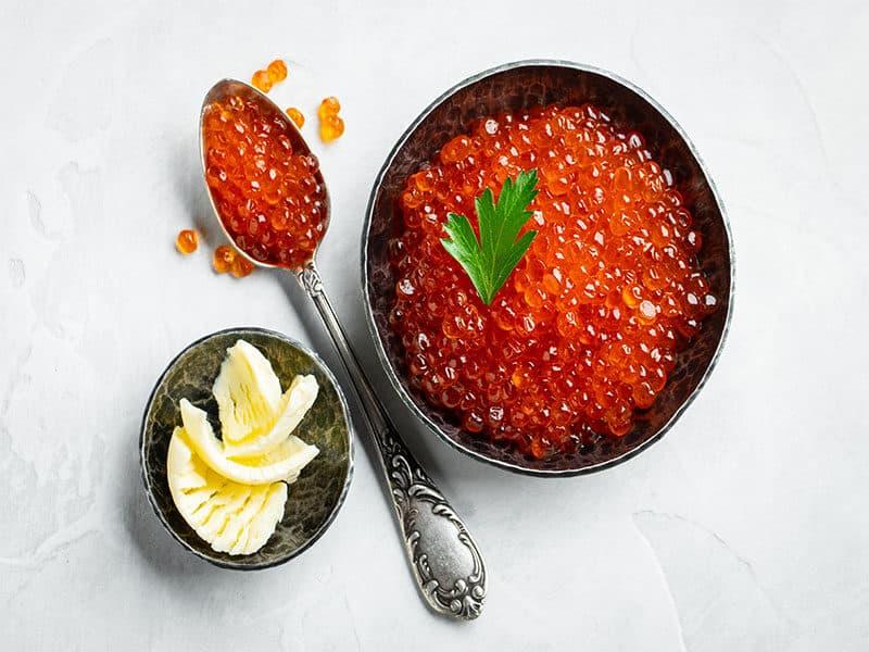 Delicious Red Caviar Black