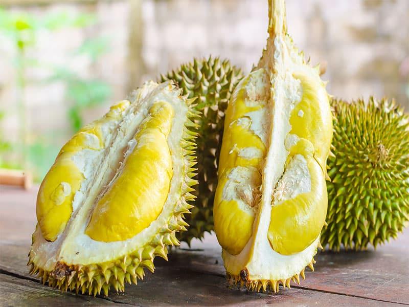 Durian Riped Fresh Peel Yellow