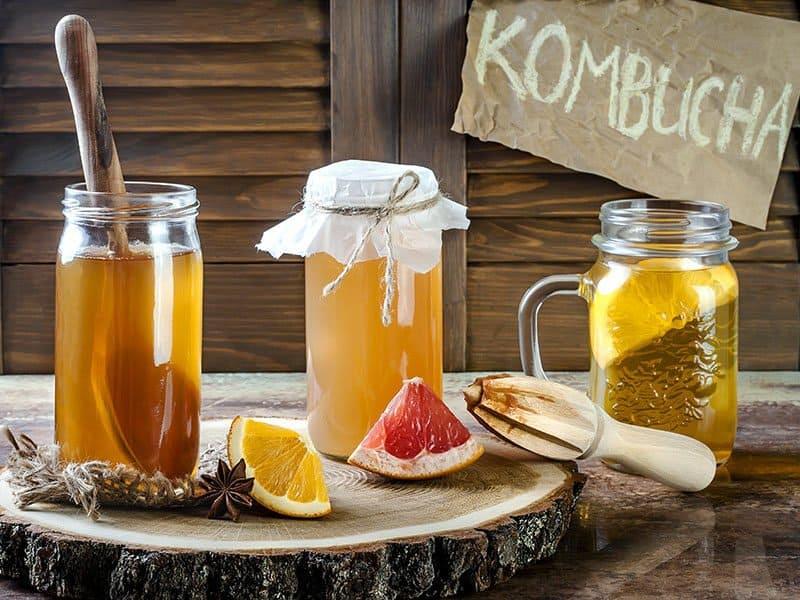 Fermented Raw Kombucha Tea
