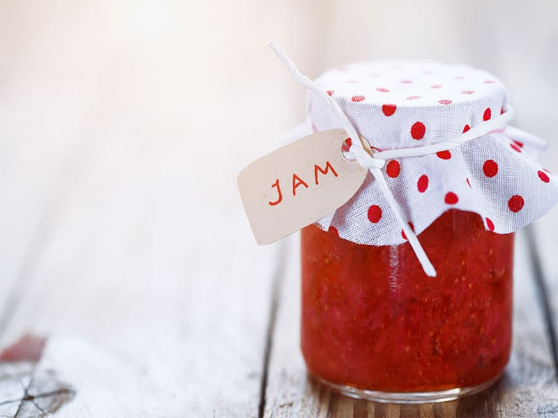 Fresh Strawberry Jam Jar