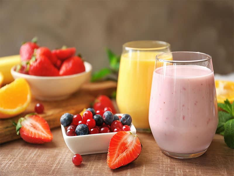 Fresh Yogurt Smoothies Orange