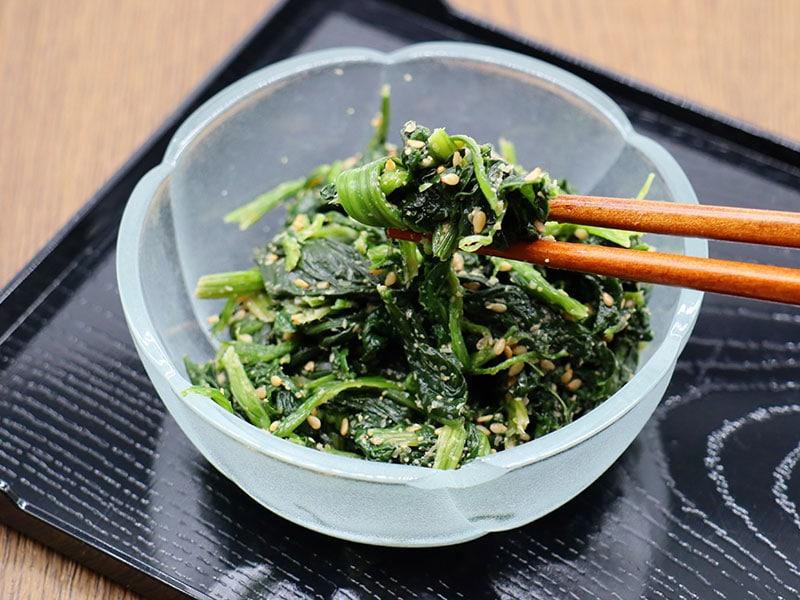 Gomaae Spinach Sesame Salad