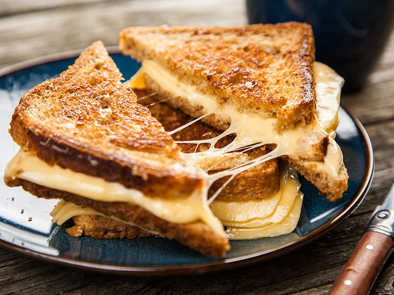 Grilled Cheese With Baked Beans