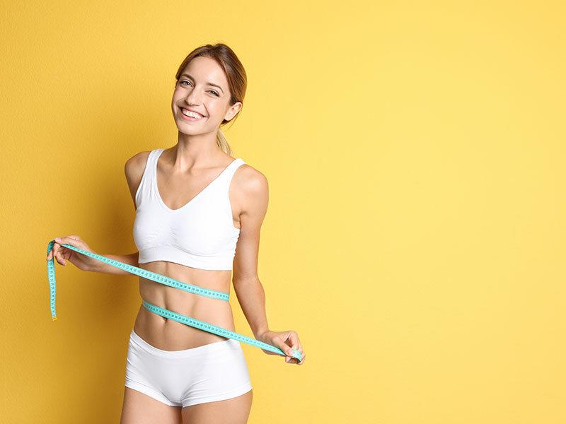 Happy Slim Woman