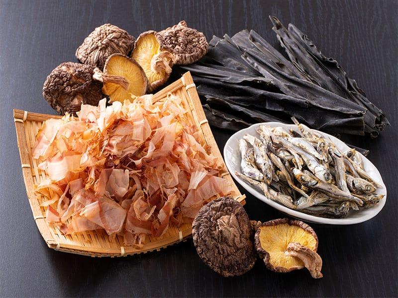 Ingredients Making Traditional Japanese