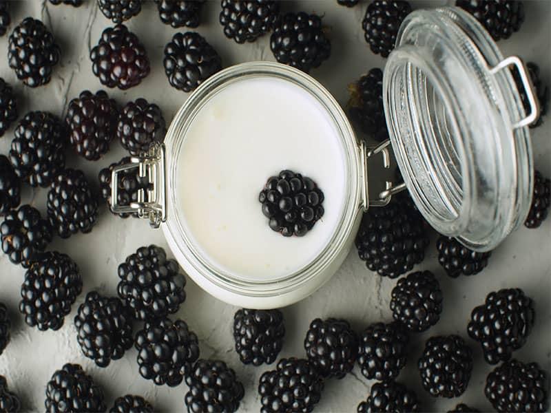 Macro Shot Ripe Raw Dewberry