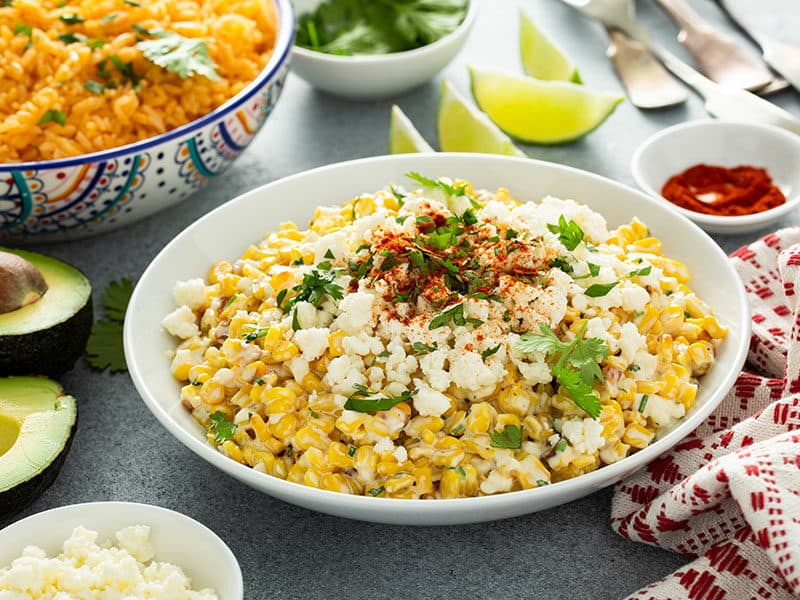 Mexican Corn Elote Cotija Cheese