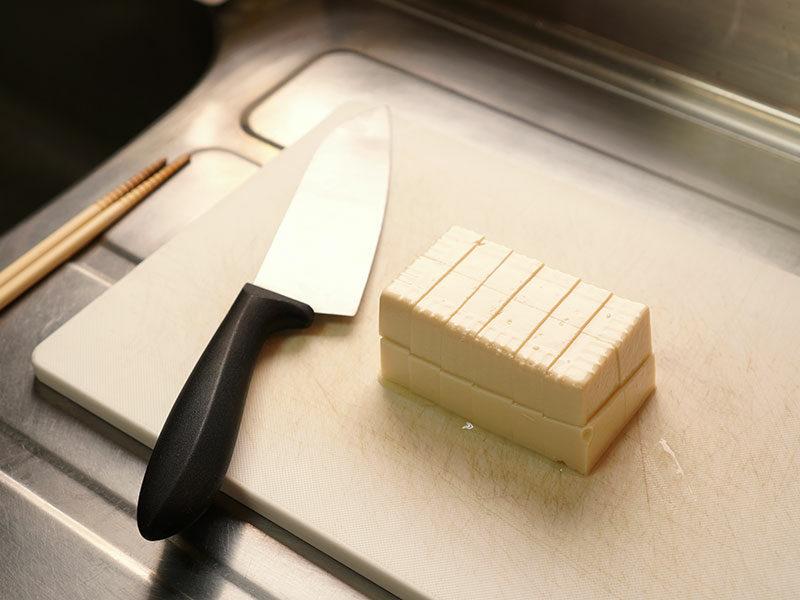 Opened Raw Tofu