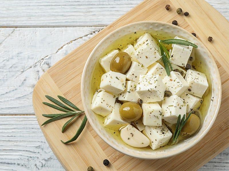 Pickled Feta Cheese