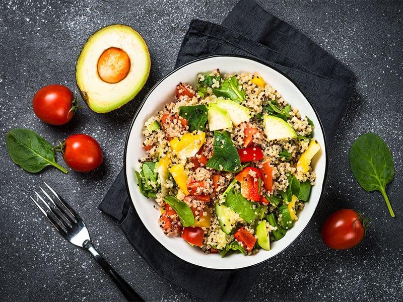Quinoa Salad Spinach Avocado