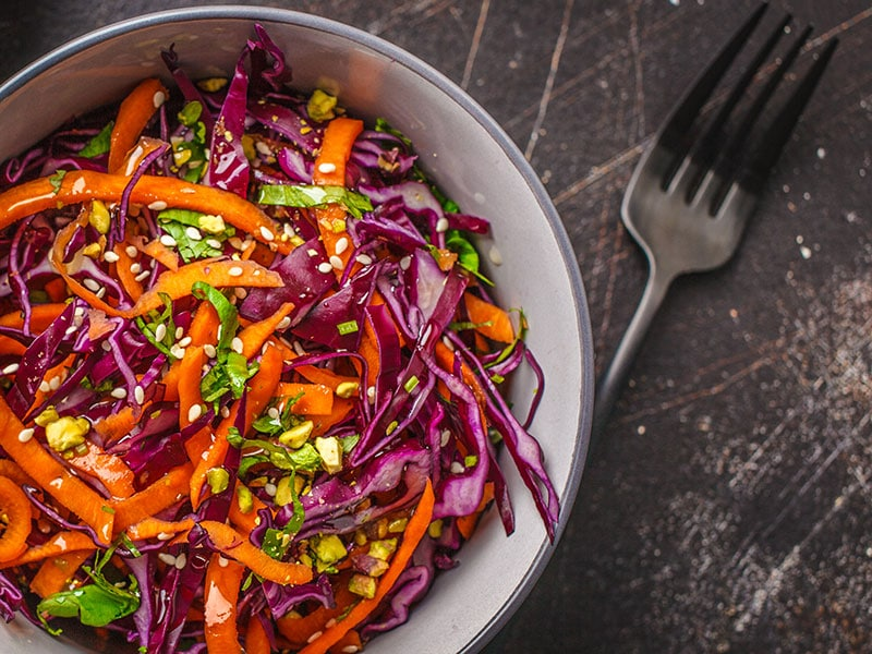Red Cabbage And Carrot Salad