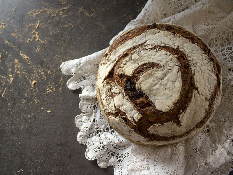 Round Bread Crusty