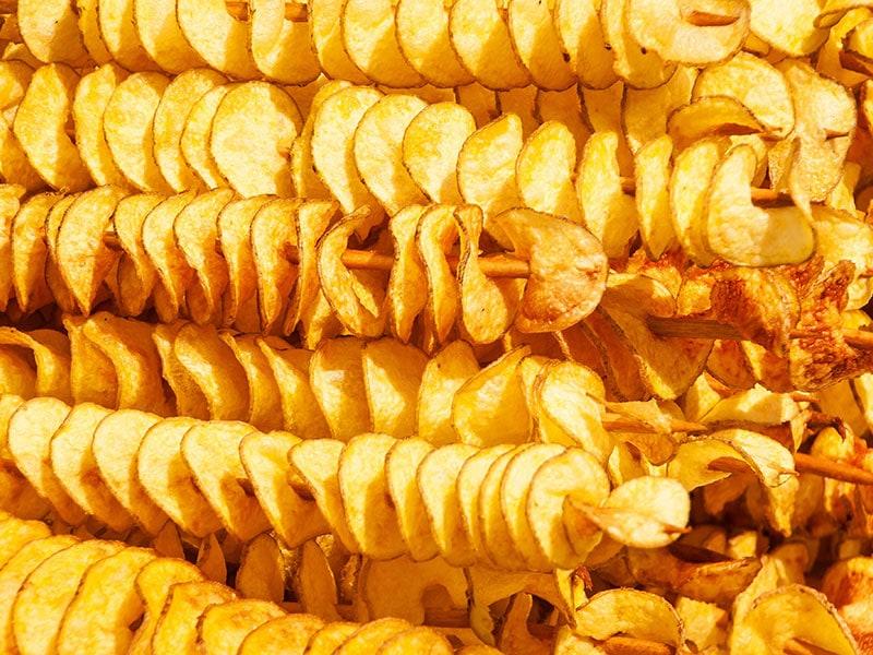 Spiral Potatoes Fried