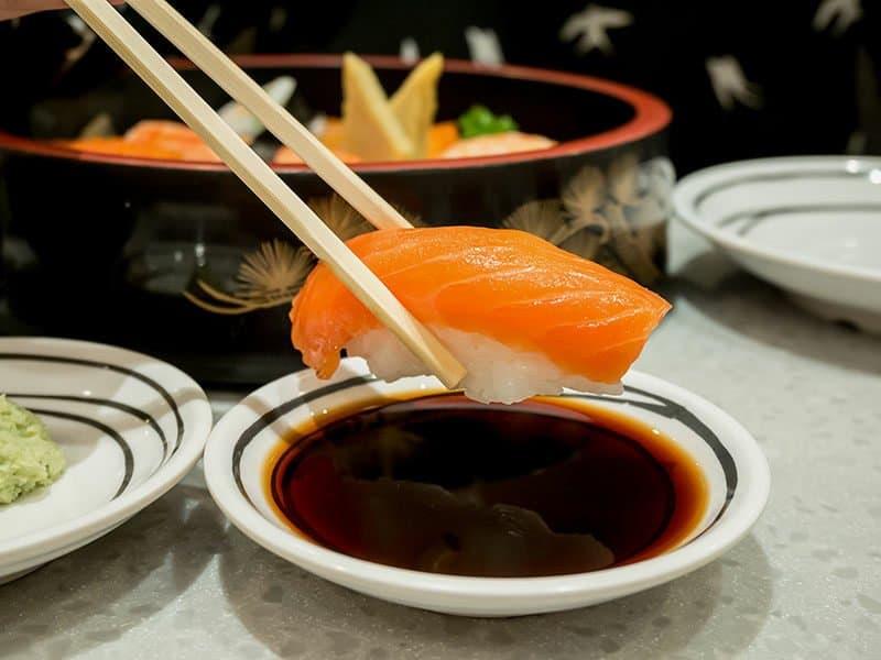 Amari With Salmon Sushi