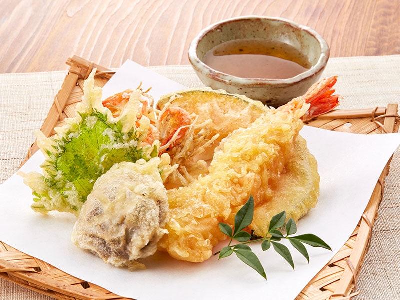 Tempura Moriawase Is Vegetables And Shrimp