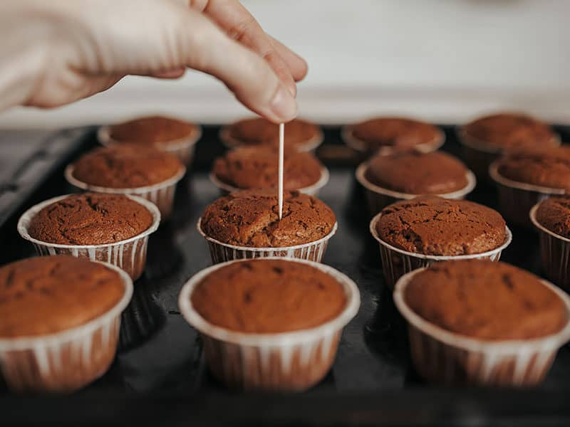 Toothpick In Center Brownies