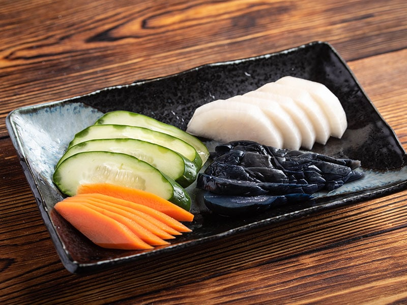 Tsukemono Are Vegetables That Are Pickled