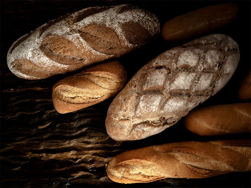 Variety Kinds Bread