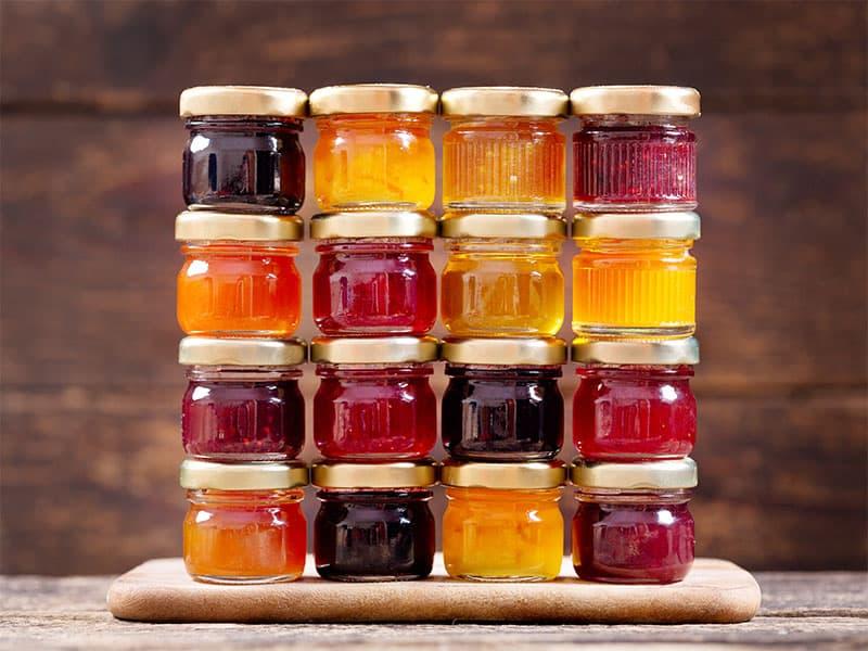 Various Jars Fruit Jam