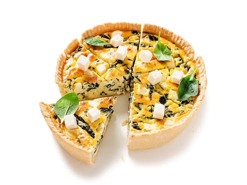 Vegetarian Spinach Pie Quiche