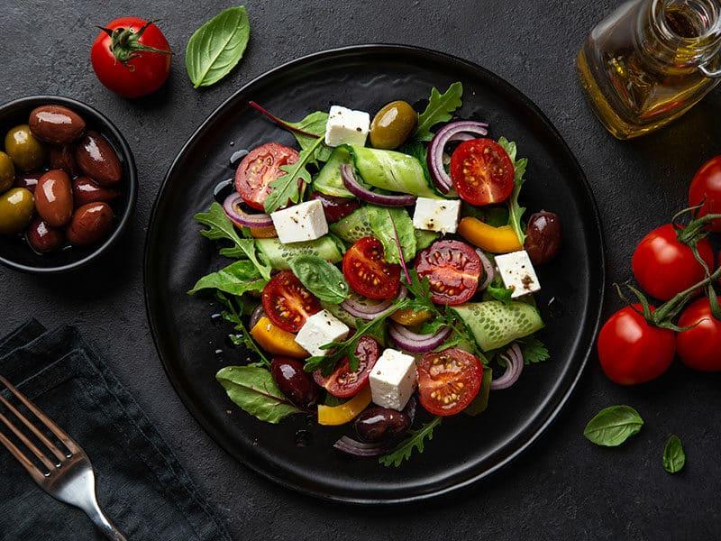 Veggies Fresh Salad Tomato Cucumber