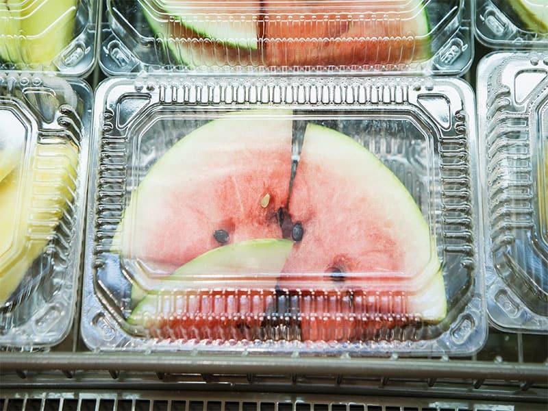 Watermelon Slice Plastic Container