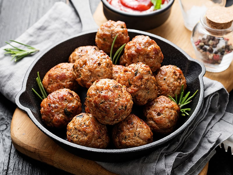 Meatballs Served