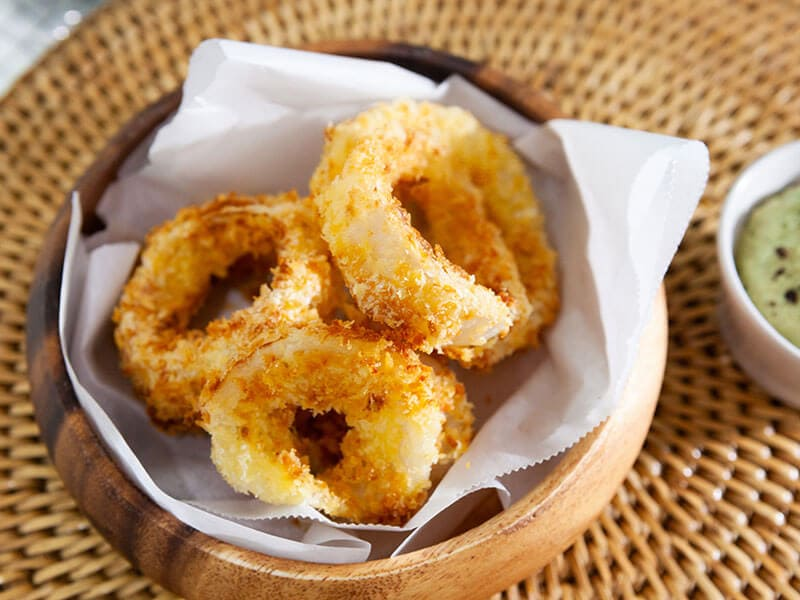 Air Fried Onion Rings Baked